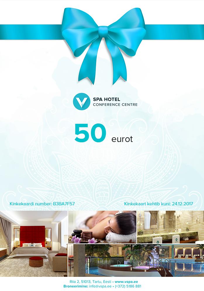 9f4951afc85 Gift card - V spaa- ja konverentsihotell
